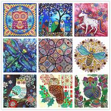 DIY diamond painting special flower bird owl diamond 5D embroidery cross stitch mosaic crystal diamond painting sticker decorati