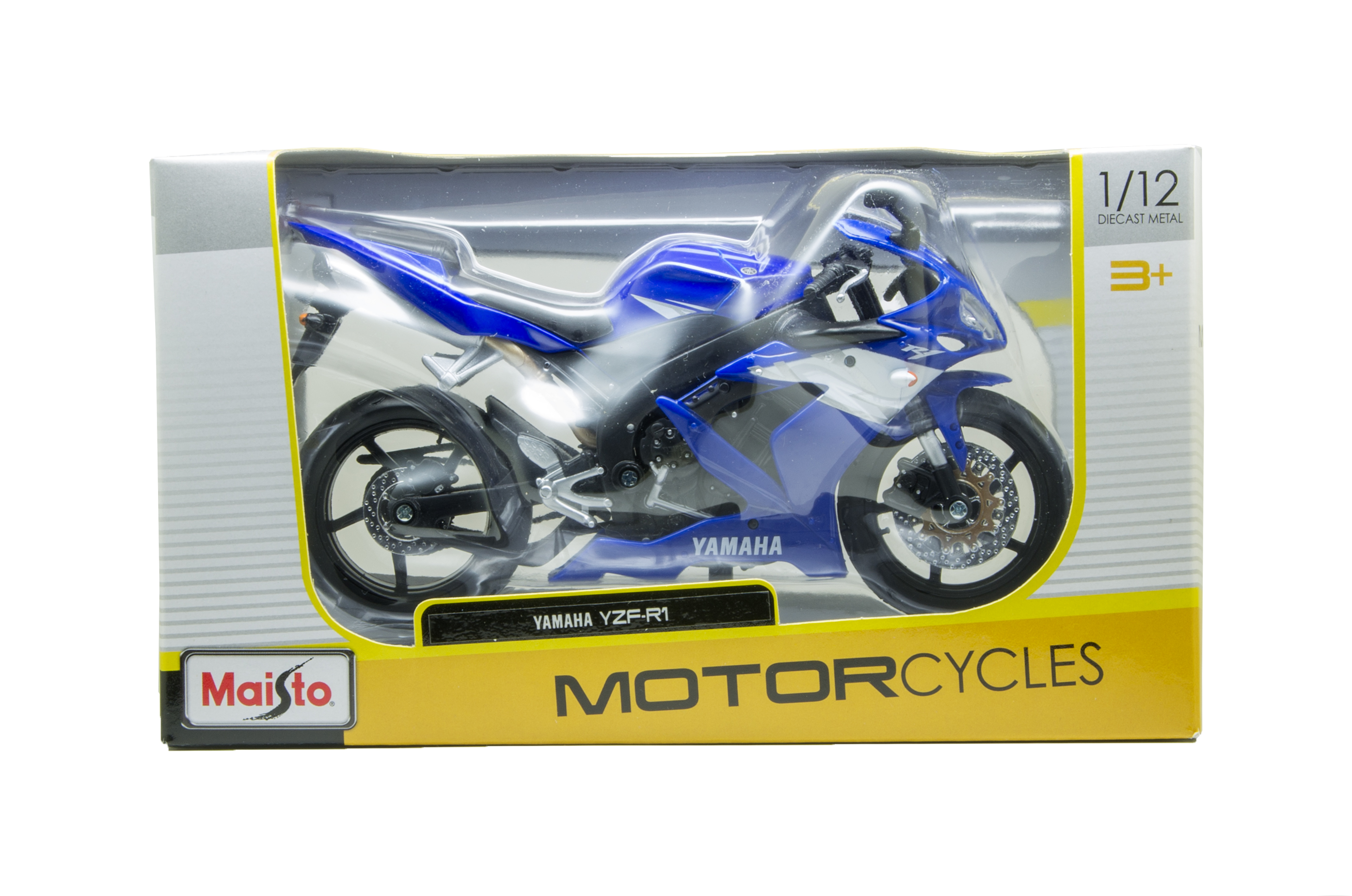 Купить с кэшбэком Maisto YZF R1 YZ450F motorcycle model 1:12 scale metal diecast models motor bike miniature race Toy For Gift Collection