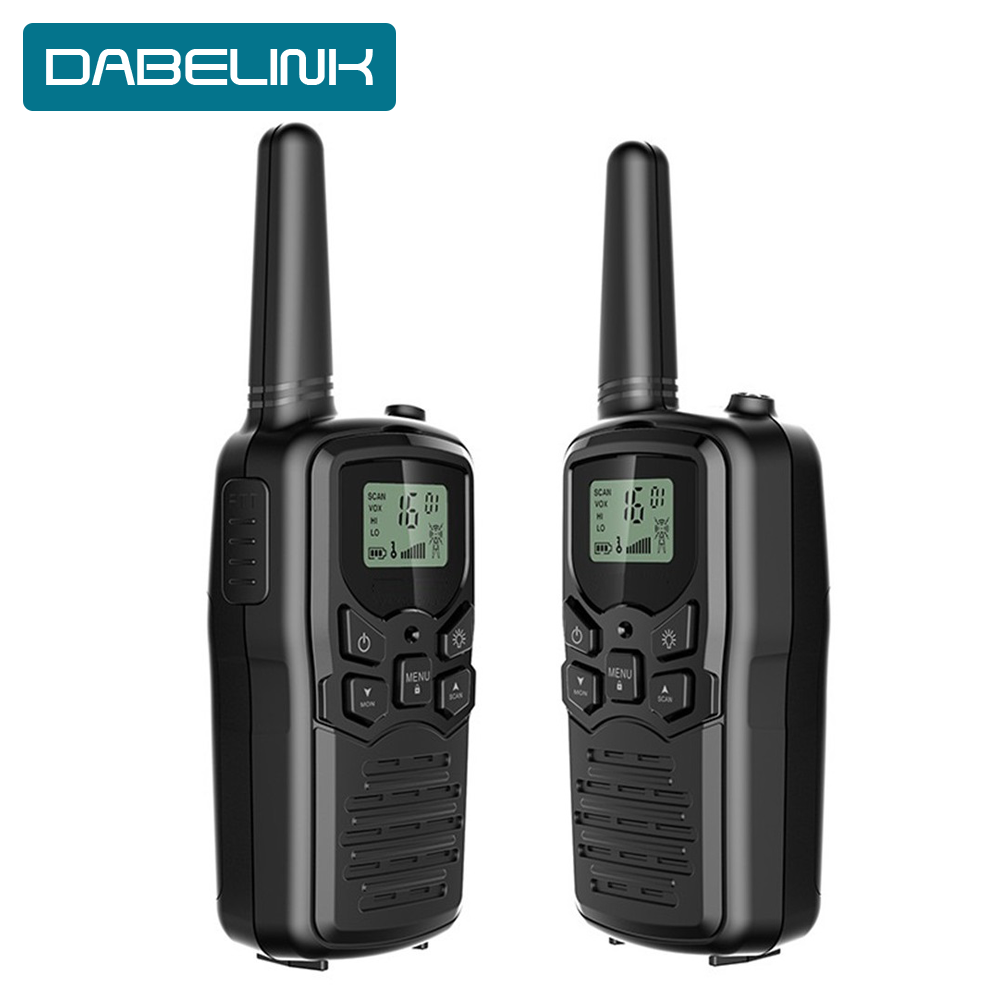 2PCS Walkie Talkie Two Way Radio Power Transceiver Ntercom Outdoor Handheld Mini Portable Communicator InterPhone