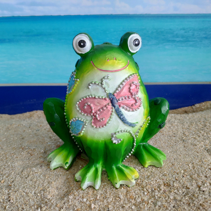 Frog creative frog toad Resin crafts Aquarium decoration The world Hand-painted animals wholesale dolls gifts image
