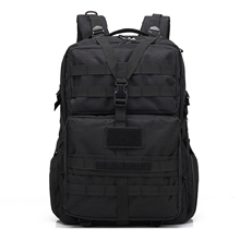 45L Military Tactical Backpack Bag Sports Multifunctional Camouflage Water Resistant(black)