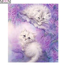 MOONCRESIN Cat 5D DIY Diamond Embroidery Tiger Animals Painting Cross Stitch Full Square Drill Rhinestone Mosaic Decoration Kits стоимость