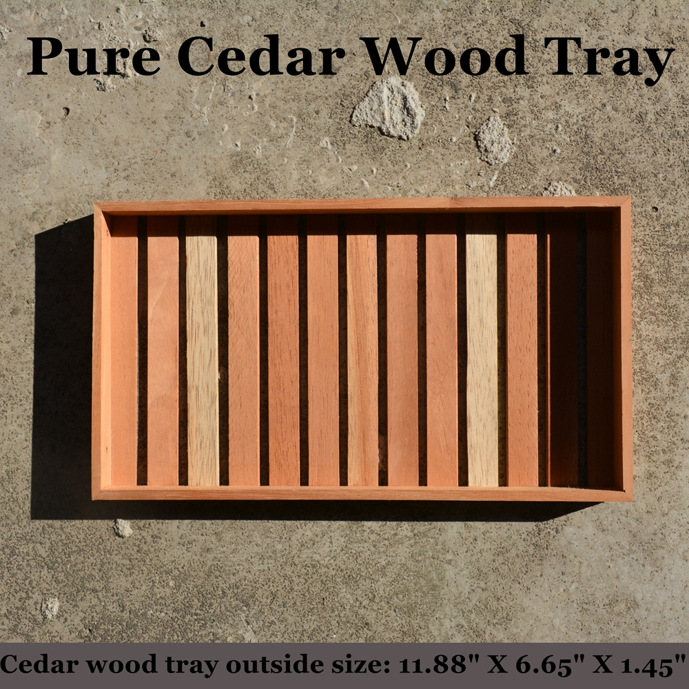 Quality Spanish Cedar Wood Cigar Tray Fits Large 10 Cigars Or 56ring 12 Cigars Without Divider For Cigaraficionado