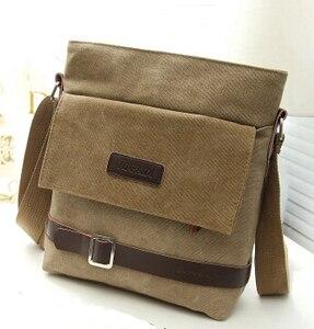 Image 4 - Новинка 2020 мужская сумка для отдыха сумка через плечо с дорожным холщовым материалом мужские сумки через плечо сумка мессенджер