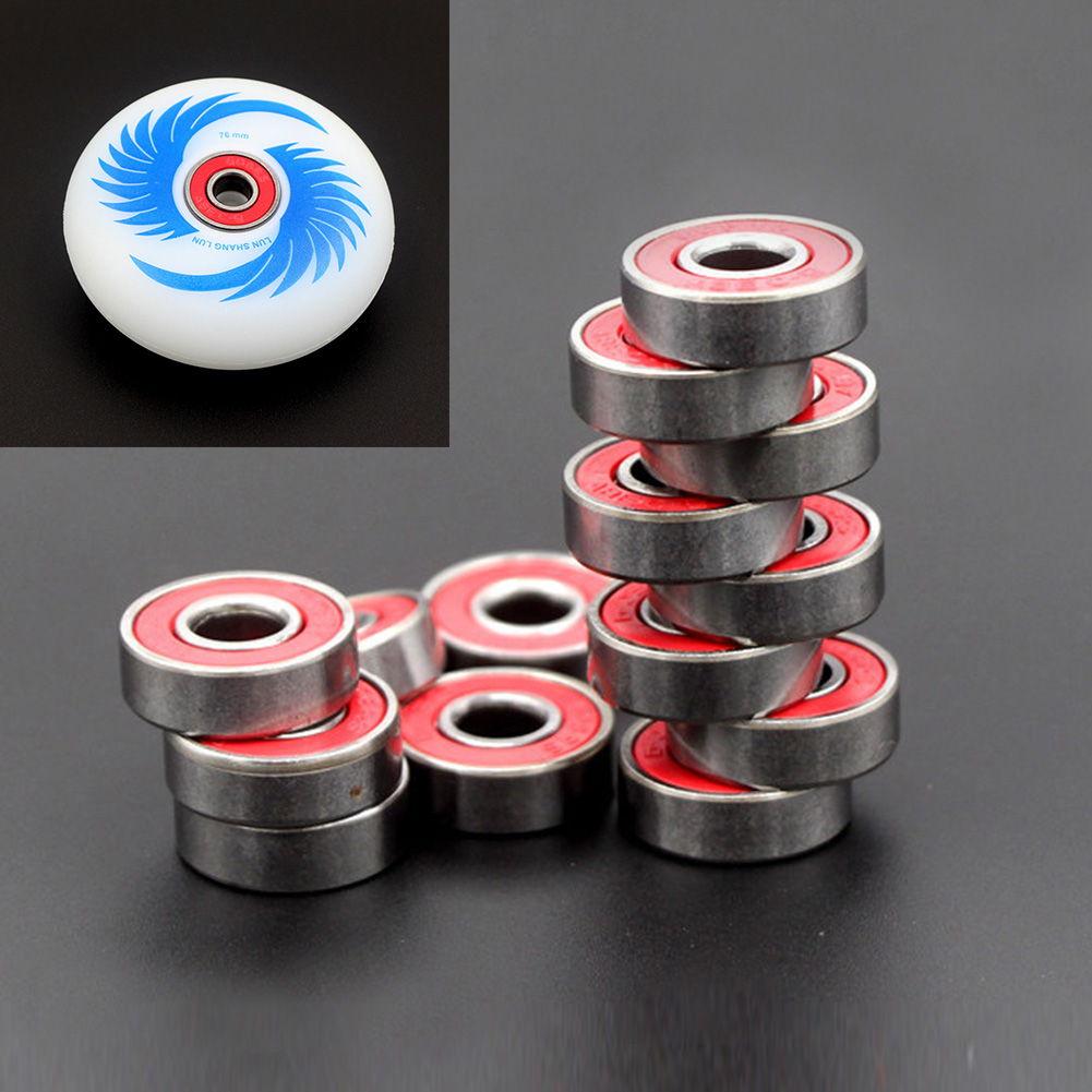 10pcs Accessories Explosion Proof Easy Carry Replacement Parts 608zz Sports Quiet Steel Skateboard Longboard Wheel Bearing