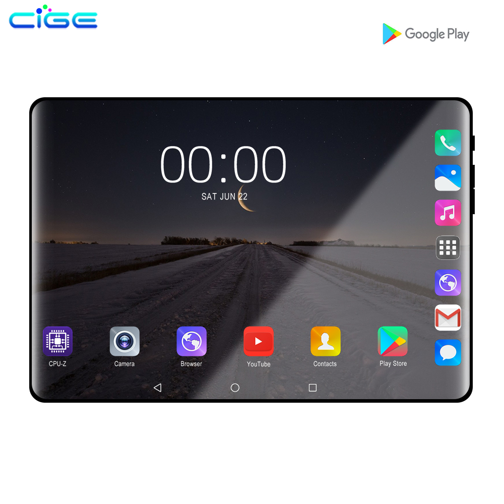 10 Inch Tablet Android 9.0 Octa Core 6GB RAM 128GB ROM 3G 4G LTE Wifi Bluetooth GPS Phone Call Glass Screen Tablet Pc 10.1