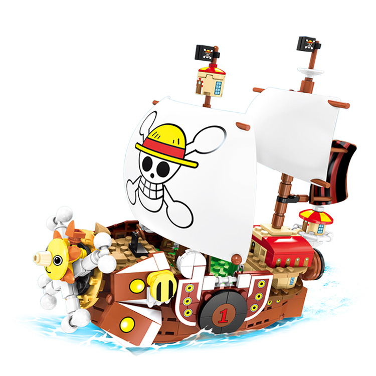 1484PC ONE PIECE ☠️ Thousand Sunny ~ Straw Hat Pirates ~ 2ndShip Building Blocks