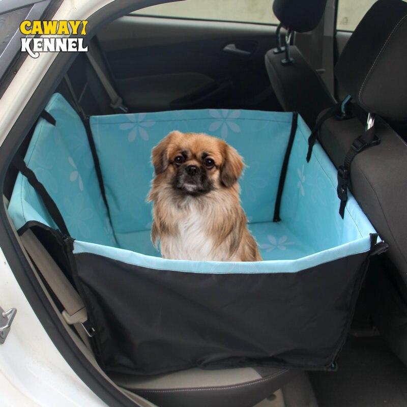 CAWAYI ZWINGER Pet-träger Hund Auto Sitz Abdeckung Durchführung für Hunde Katzen Matte Decke Hinten Zurück Hängematte Protector transportin perro