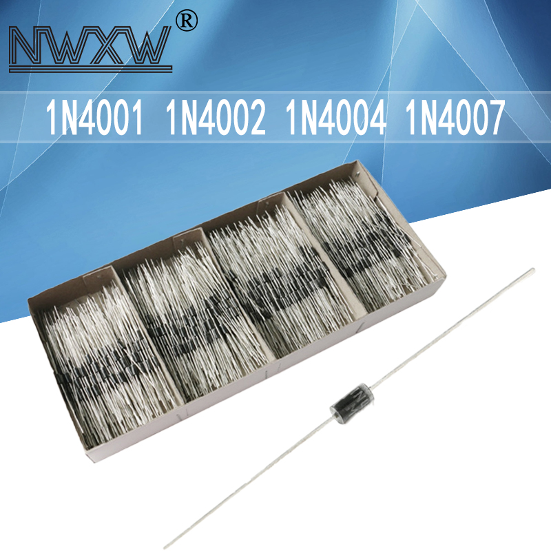 50 шт./лот в он-лайн с выпрямительным диодом 1N4001 1N4002 1N4004 1N4007 DO-41 1A 100V-1000V