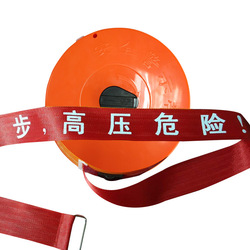 Customize Logo Security Cordon Warning Isolation Tape Canvas Warning Rope Safety Warning Tape Length 100 Meters 5cm Width