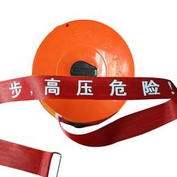 Personalizar el logotipo de Seguridad Cordon advertencia de aislamiento cinta de lona cuerda de advertencia de seguridad longitud de la cinta de advertencia 100 metros 5cm de ancho