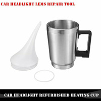 Car Head Light Refurbished Headlamp Repair Tool Electric Heating Cup With Funnel|Spot Rust & Tar Spot Remover| |  -