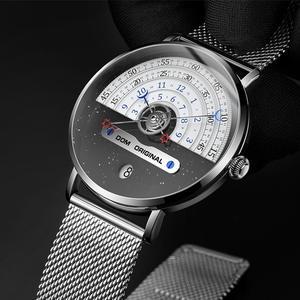 Image 3 - Original moda dom relógio masculino relógios de quartzo masculino à prova dwaterproof água relógio de pulso de luxo dos homens ouro M 1288GK 9M