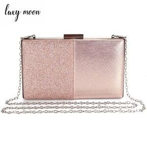 Image 1 - Женская вечерняя сумка клатч, розовый клатч и сумочка в стиле пэчворк, кожаная женская сумка, свадебная сумка ZD1178
