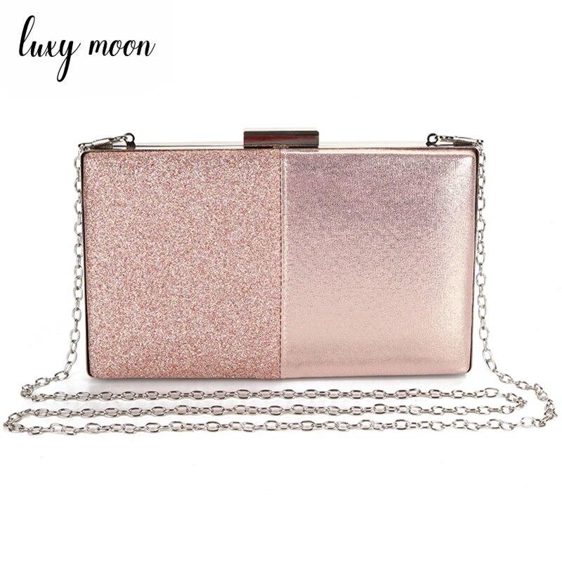Women's Evening Clutch Bag Pink Clutch Purse And Handbag Patchwork Design Leather Women Bag Wedding Party Bag ZD1178