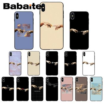Babaite Creation of Adam High Quality Phone Case for iPhone 11 pro XS MAX 8 7 6 6S Plus X 5 5S SE XR case image
