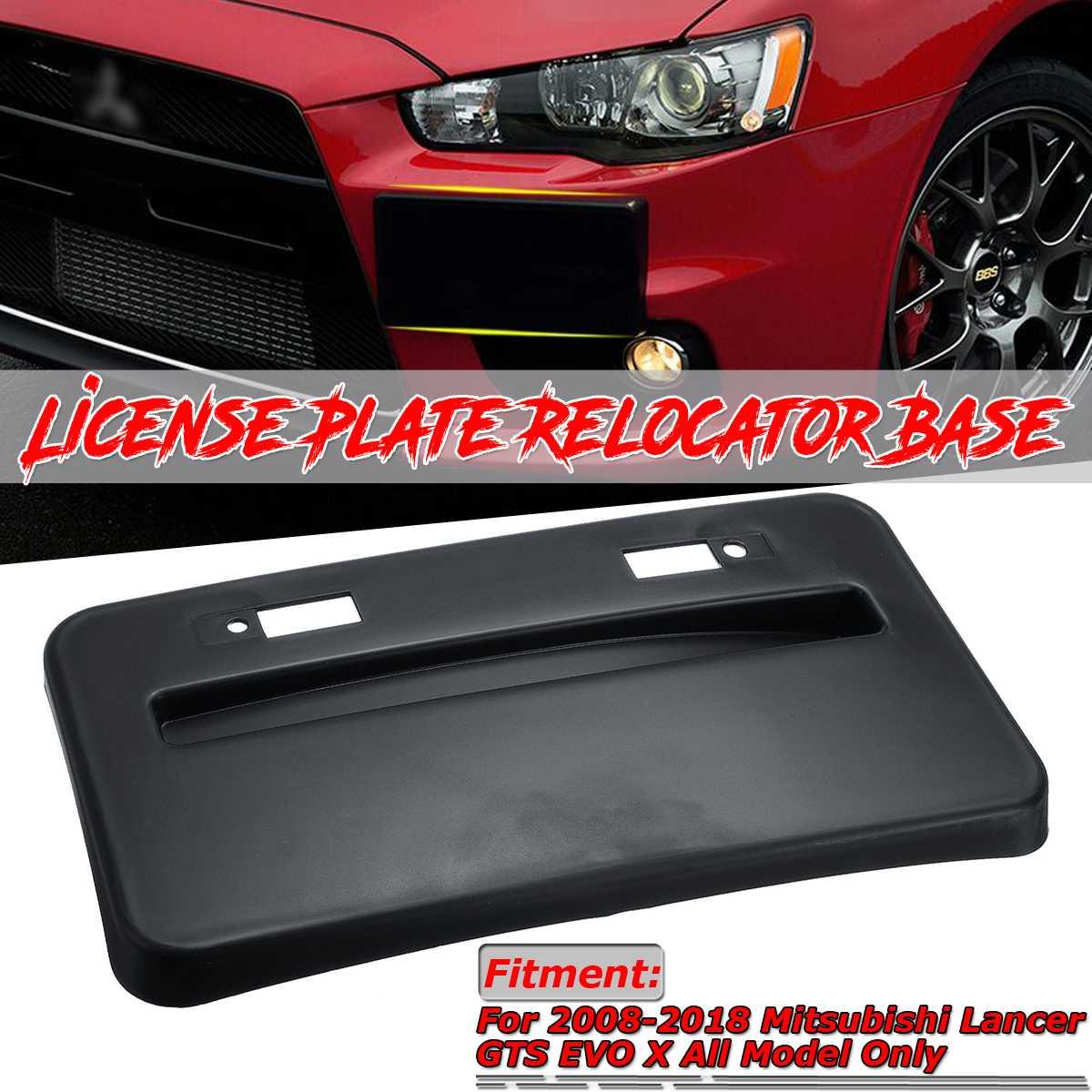 Nowy przedni zderzak samochodowy uchwyt na tablicę rejestracyjną Relocator podstawa wspornik rama dla Mitsubishi Lancer GTS EVO X 2008-2018