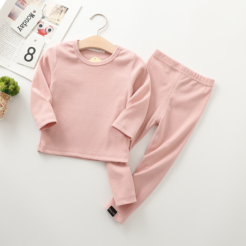 Image 5 - New Ribbed Fitted Pajamas For Baby Girl Pajamas Kids Boy Children Clothes Autumn Winter Toddler Set Soft Comfortable Long Sleeve-in Clothing Sets from Mother & Kids