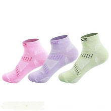 3 Pairs SANTO S012 Outdoor Sock Slippers Womens Sports Socks Quick Dry Spring Summer Fit to Size 36-38