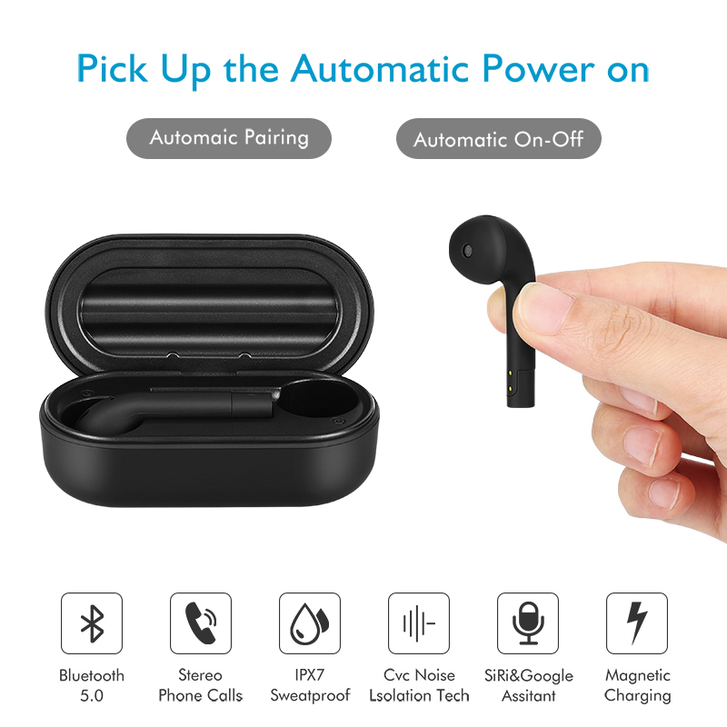 TWS Bluetooth5 0 Sports Earphone Freebud In ear True Wireless Headset With Microphones Earbuds For Huawei IPhone All Smart Phone in Phone Earphones Headphones from Consumer Electronics