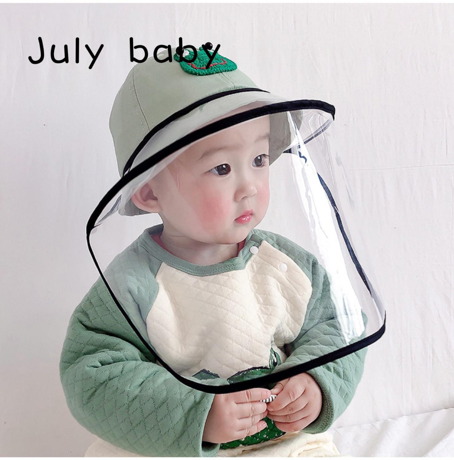 July Baby Hat Spring And Autumn Thin Section Environmental Protection Material Anti-foam Hood Child Fisherman Hat Sun Hat
