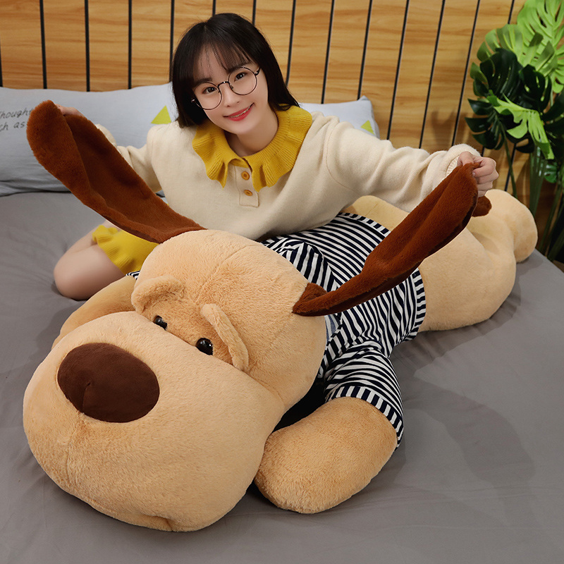 70/90/130 CM Plush Toy Big Sleeping Dog Stuffed Puppy Dog Soft Animal Toy For Christmas Birthday Gift Pillow