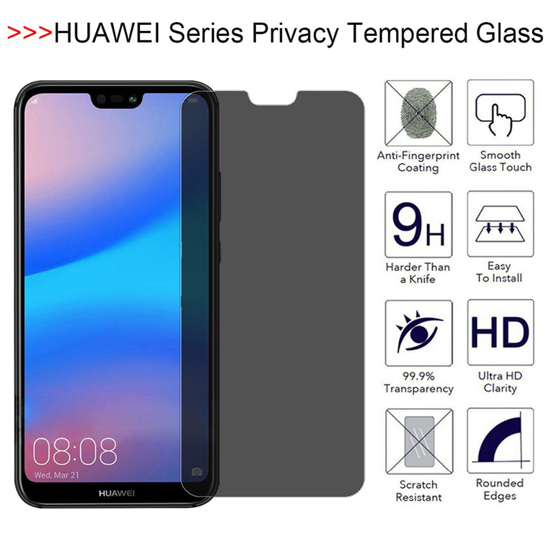 Защита экрана для Huawei Honor 8A 8X Max 8 Pro 8C, пленка из закаленного стекла антишпионская для Honor 8A Honor 8 X C A