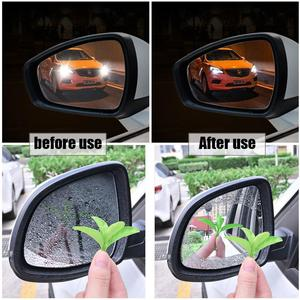 Image 4 - 2Pcs Car Side Window Protective Film Anti Fog Waterproof Anti Glare Membrane Car Sticker Auto Accessories