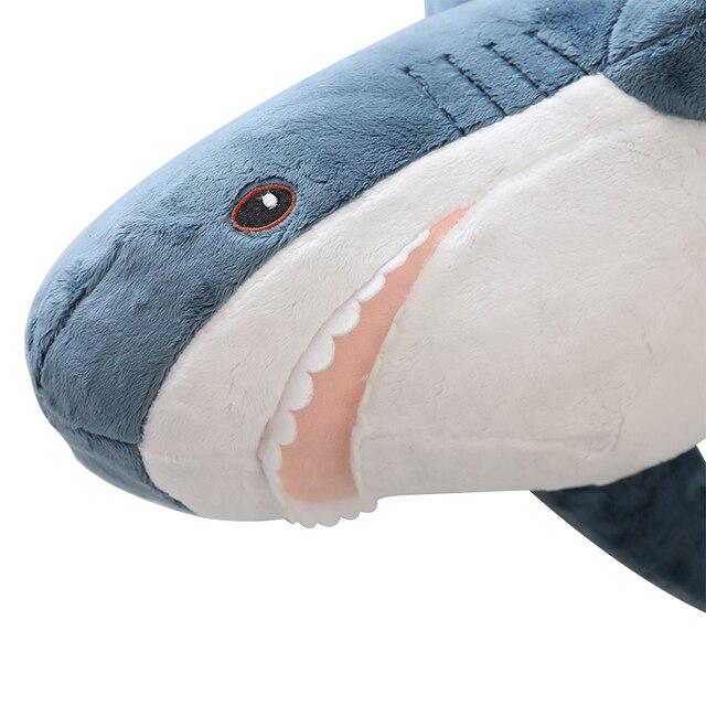 Peluche requin grande taille drôle morsure douce requin peluche oreiller apaiser environ 100cm peluche poisson oreiller jouets pour enfants