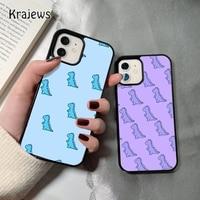 Krajews Baby Dino dinosaurier coque Telefon Fall für iPhone 12 mini 5 6S 7 8 PLUS X XS XR 11 PRO MAX SE 2020 Zurück Abdeckung Funda Shell