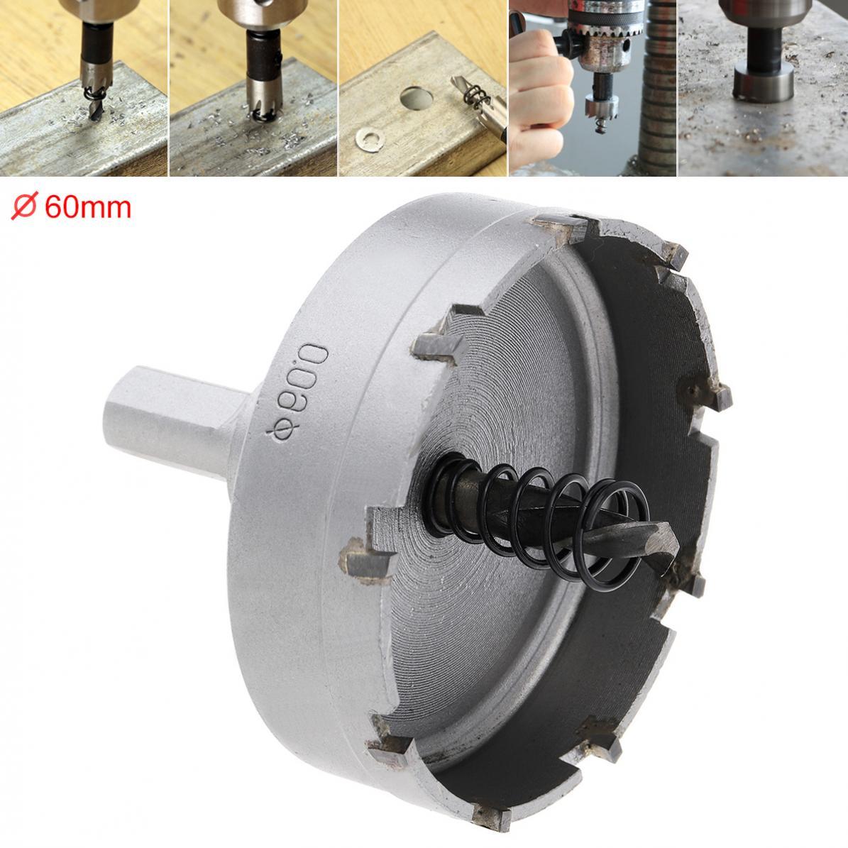 HSS Hole Saw 60mm Drill Bit Carbide Cutter Head  High Speed Steel Hss Drill Set Hole For Stainless Steel Metal Alloy Cutter