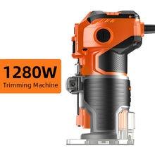 1280 Вт Электрический триммер для деревообработки diy фрезерный
