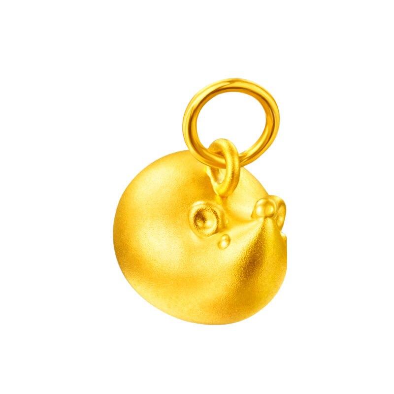 Новое поступление 24K желтое золото кулон 3D 999 Золото муха кулон в виде мыши кулон - 2