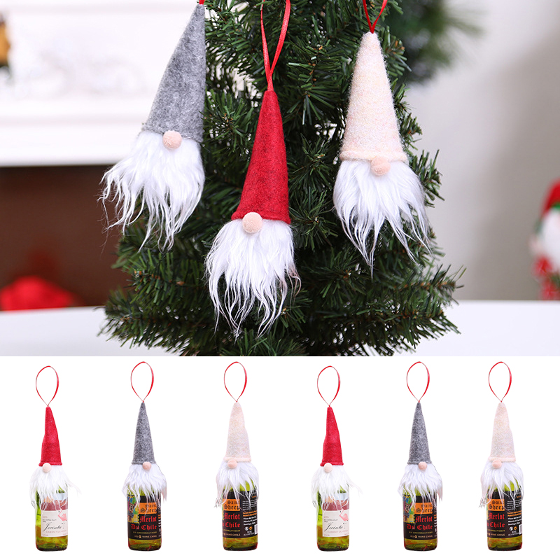 Christmas Champagne Forest Man Bottle Cap Christmas Day Wine Bottle Decoration Supplies Wine Bottle Dress Up Ornaments Wine Bag