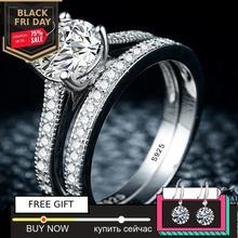 Siyah cuma Sona S925 ayar gümüş yüzük i love mom SONA elmas VS netlik 1.25 ayar lüks düğün nişan 2pc benzersiz