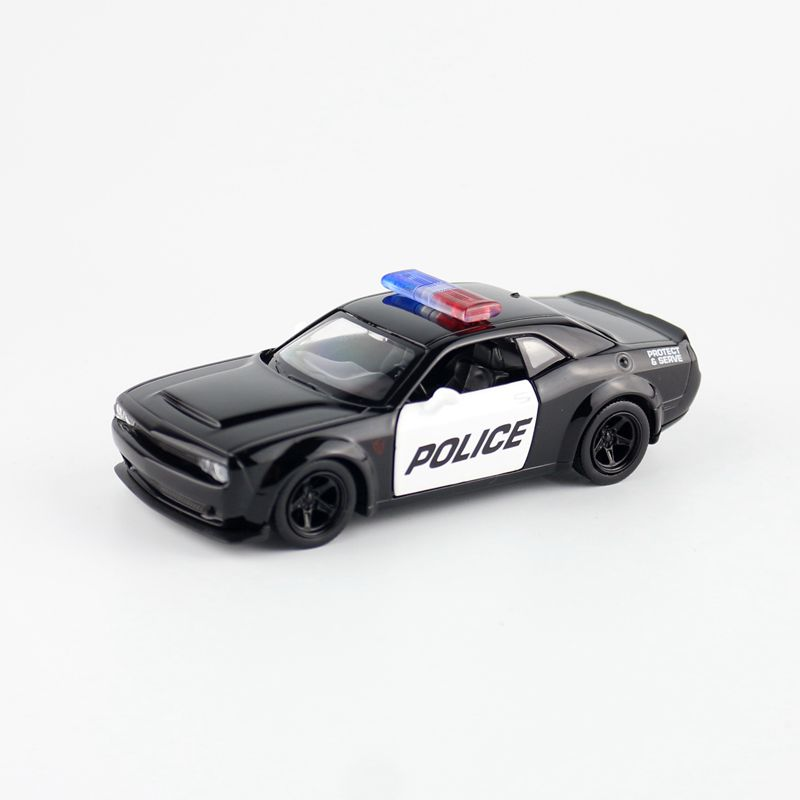 RMZ City/1:36 Scale/Diecast Toy Car Model/Dodge Challenger SRT Demon Police/Diecast Metal Pull Back Model/Collection/Gift/Kid