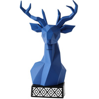 Northern Europe light luxury deer head fitting living room Xuanguan display cabinet ceramic craft designer home soft decoration