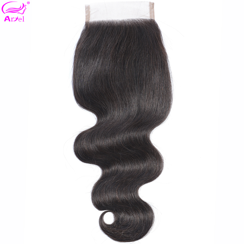 Brazilian Body Wave Closure 100% Human Hair Closure 20 22 Inch Lace Closure 4*4 Remy Frontal Closure Free Part Closures Ariel