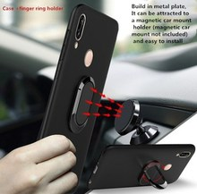 Armor Ring Case For huawei p30 lite case Magnetic Car Hold Shockproof Soft Bumper Phone Cover For huawei p30 p20 pro lite Case цены