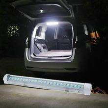 Barre lumineuse blanche pour intérieur de voiture, 72 LED, 12-85V, 1 pièce, avec interrupteur marche/arrêt, pour Van, camion, camping-Car, bateau