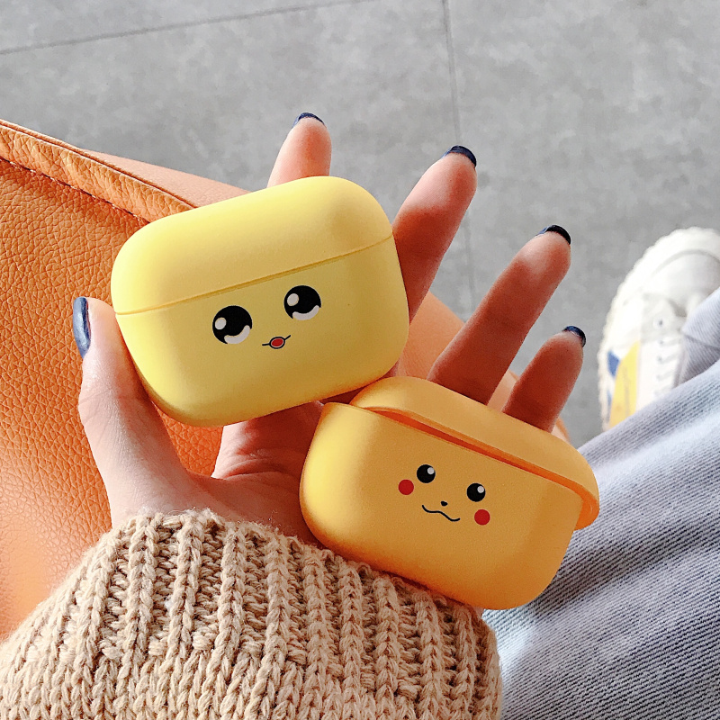 For cartoon cute and funny <font><b>Pikachu</b></font> headset cover for Apple wireless Bluetooth headset Airpods1 2 <font><b>Airpods</b></font> pro silicone <font><b>case</b></font> image