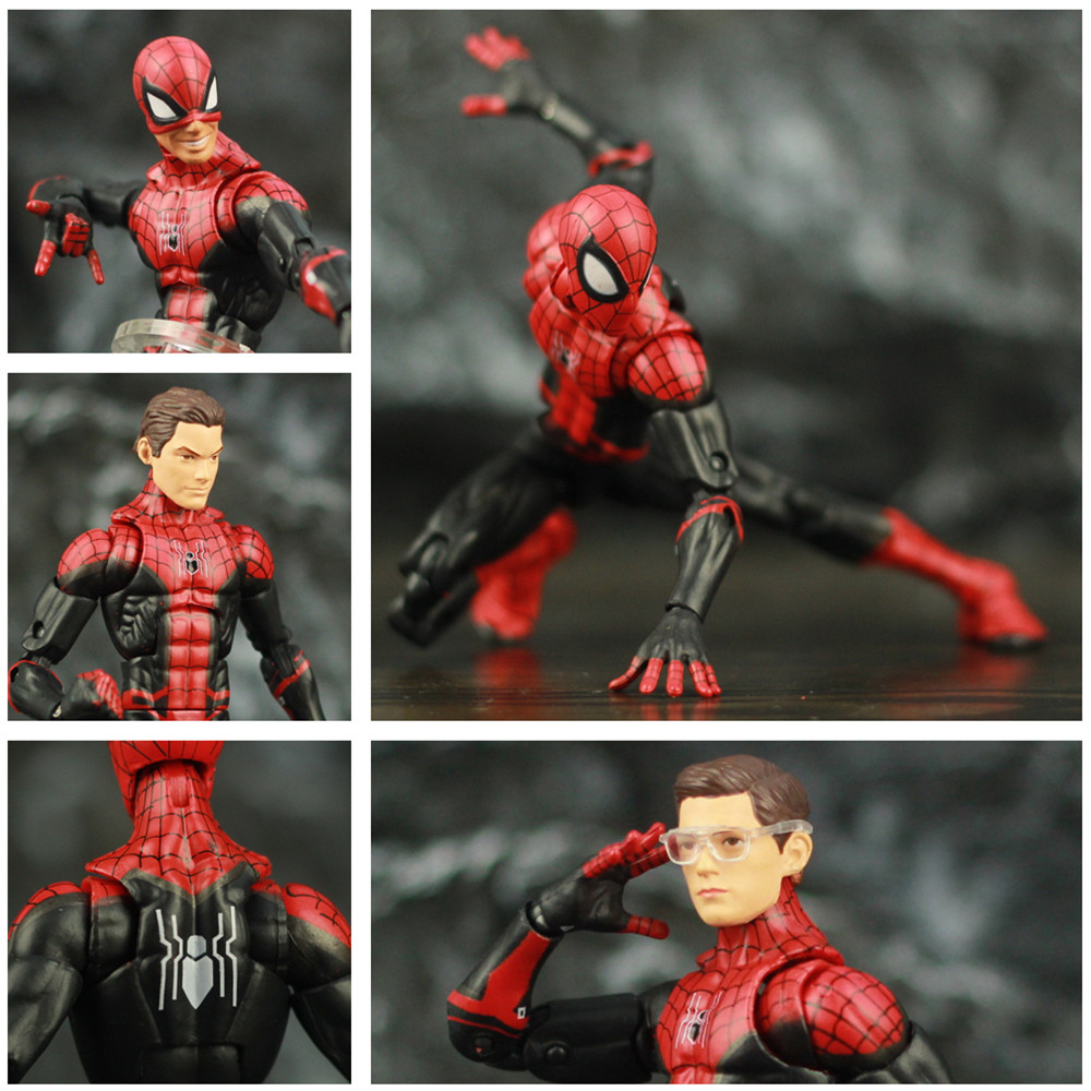 """Spider-Man Far From Home Tom Holland 6"""" Action Figure Iron Man Edith Glasses Spiderman Peter Parker KO's Marvel Legends Toys"""