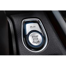 3pcs/set auto Engine Start Stop Button Cover Trim Silver Aluminum Alloy Car Decoration Accessories For BMW F20 F21 2012-2017