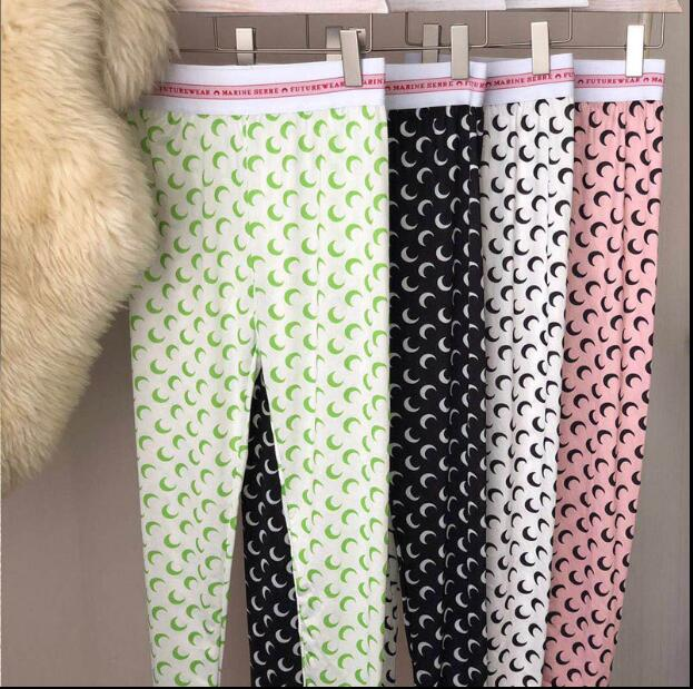 2020SS New Multicolor Moon Print Seamless Leggings Track Pants Good Elasticity