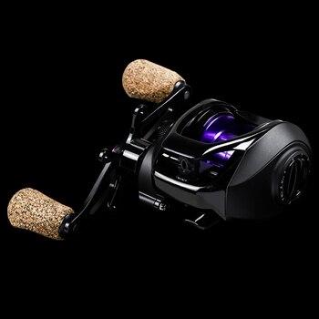LINNHUE Baitcasting Reel BK2000 Fishing Reel 7.2:1 High Speed 5.5KG Max Drag Magnetic System Wood Handle SaltWater Reel Fishing 2