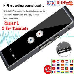 Smart Voice Translator Portable Two-Way Real Time 42+ Multi-Language Translation Wireless Bluetooth Business Travel Translators