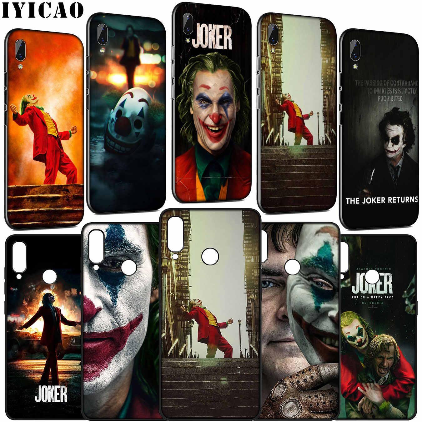 Joaquin Phoenix Phim Joker Mềm Mại Ốp Lưng Điện Thoại Huawei Y9 Y7 Y6 Prime 2019 2018 Honor 20 10 9 9X 8C 8X8 Lite 7C 7X 7A Pro
