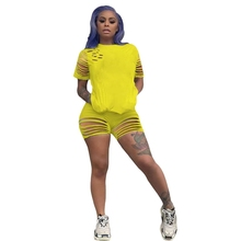 Sporty Casual Two Piece Set Women Clothing 2020 Summer Outfits Top