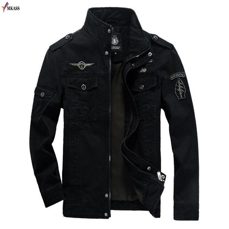 Men's Spring And Autumn Recreational Jacket Of 2019 Fashion Long Sleeve Loose Jacket With Multi-pocket Embroidery Jacket