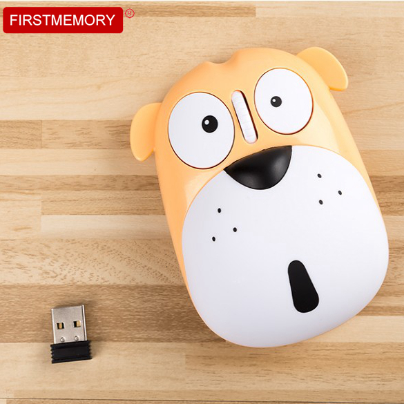 Cute Little Dog Wireless Rechargeable Silent Computer Mouse Mute Ergonomic Optical Mause 1200 DPI USB 3D Mouse For PC Laptop